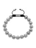 Men's Beaded Bracelet with Indian Silver Cairo Beads - Nialaya Jewelry  - 1