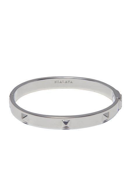 Men's Silver Stud Bangle - NIALAYA INC