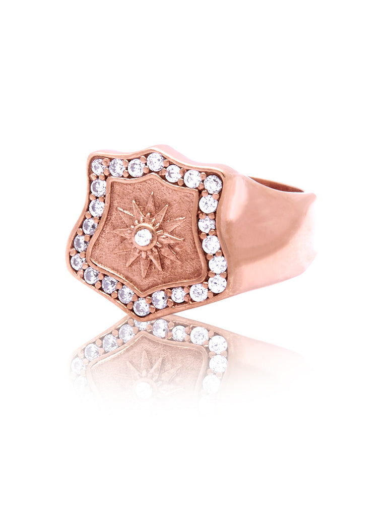 Cocktail Ring Rose Gold - Nialaya Jewelry  - 1
