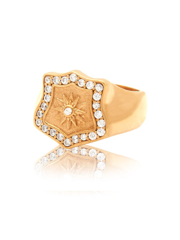 Cocktail Ring Gold - Nialaya Jewelry  - 1