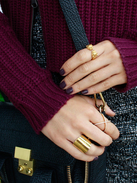 Tube Ring in Gold - Nialaya Jewelry  - 5