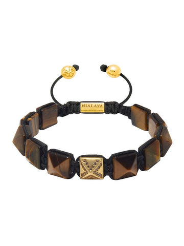Men's Himalaya Collection - Brown Tiger Eye and Gold