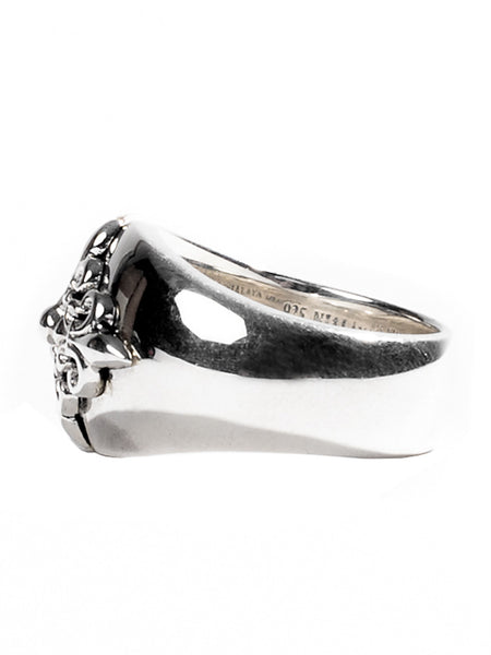 Sterling Silver Crest Ring - Nialaya Jewelry  - 2