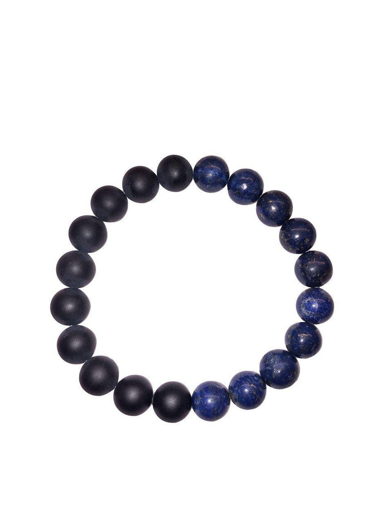 Men's Wristband with Blue Lapis - Nialaya Jewelry