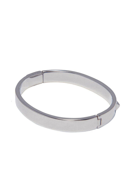 Skyfall Silver Stud Bangle - Nialaya Jewelry  - 3