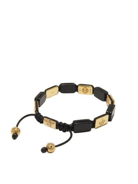Men's Flatbead Bracelet with Matte Onyx and Gold - Nialaya Jewelry  - 3