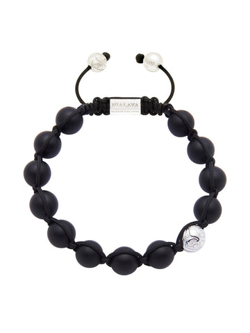Men's Silver With Matte Onyx - Nialaya Jewelry  - 1