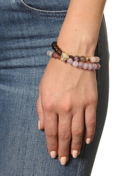 Wrap Bracelet With Amethyst And Panther Charm - Nialaya Jewelry  - 2