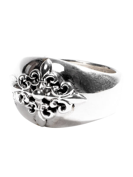 Sterling Silver Crest Ring - Nialaya Jewelry  - 1