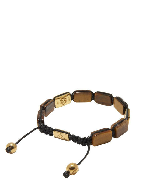 Men's Flatbead Bracelet with Brown Tiger Eye - Nialaya Jewelry  - 3