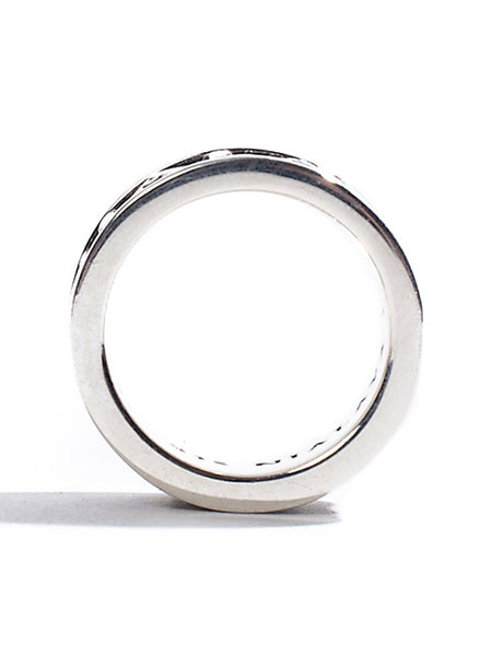 Silver Signature Ring - Nialaya Jewelry  - 2