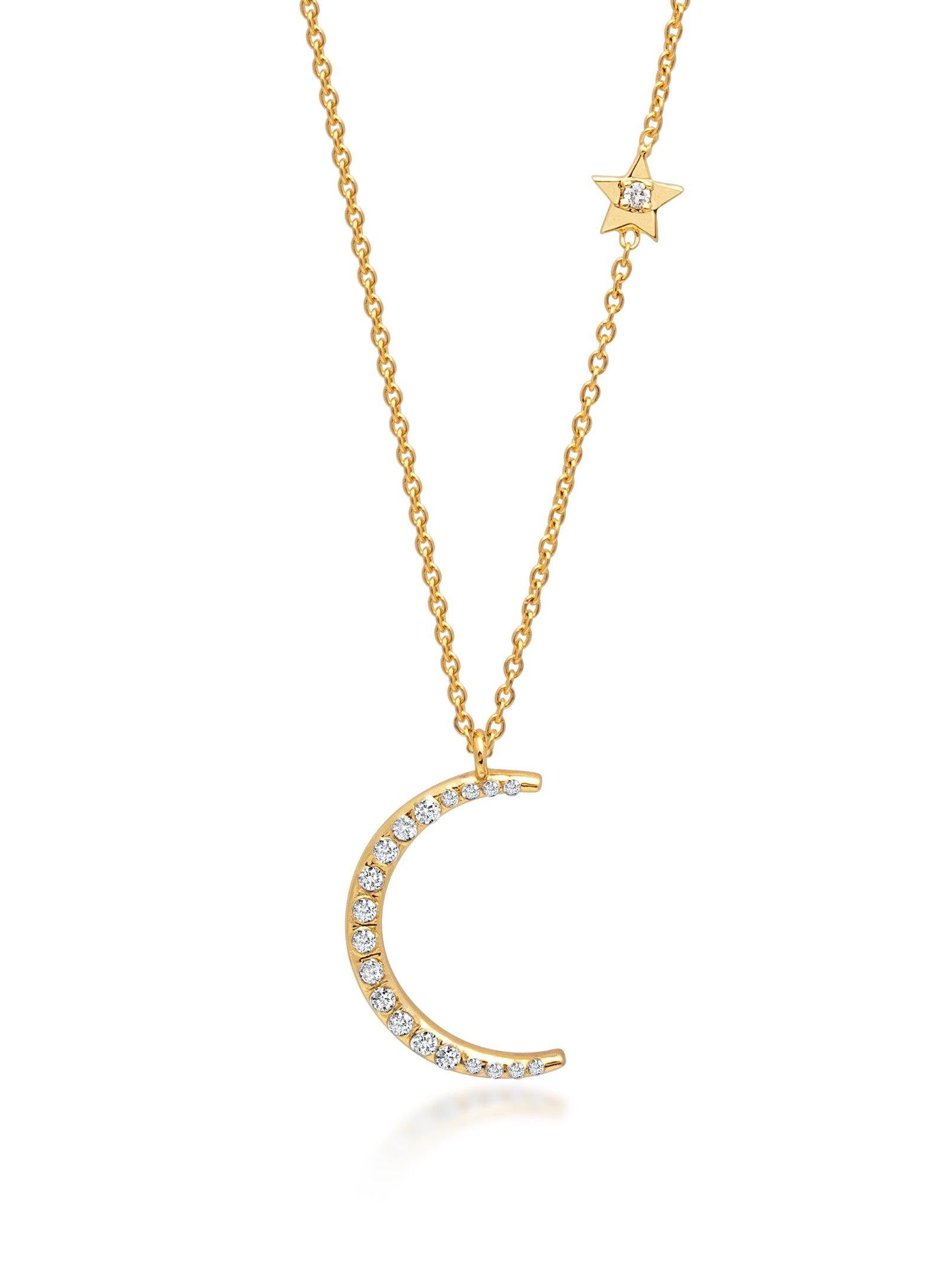 Women's Sterling Silver Crescent Necklace - Nialaya Jewelry