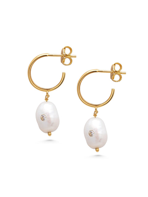 Women's Sterling Silver Pearl Earrings