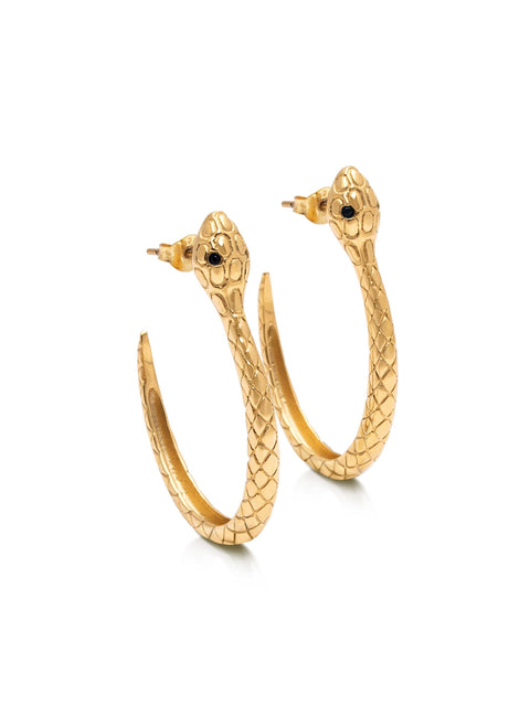 Women's Snake Hoops - NIALAYA INC