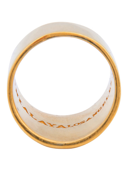 Tube Ring in Gold - Nialaya Jewelry  - 3