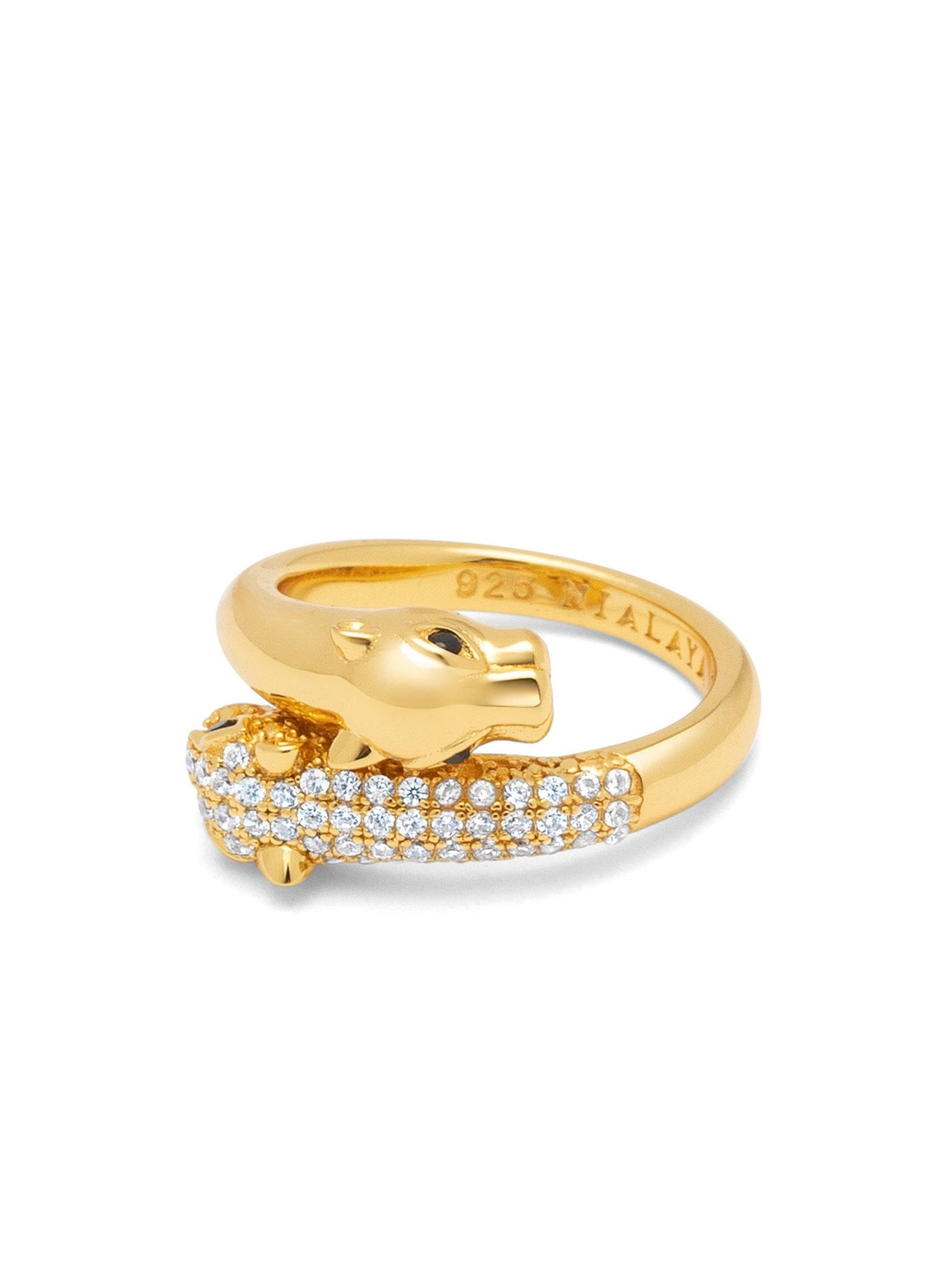 Twisted Panther Ring in Gold - NIALAYA INC