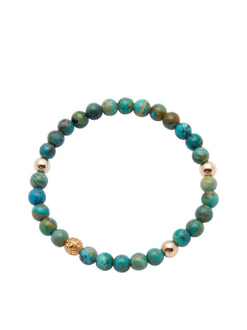 Men's 14K Gold Collection - Bali Turquoise and Gold