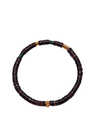 Men's Dark Brown Beaded Heishi Bracelet
