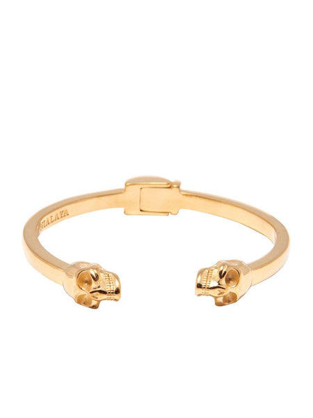 Men's Gold Skull Bangle - Nialaya Jewelry  - 4
