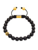 Men's Beaded Bracelet with Ebony and Indian Logo Ball - Nialaya Jewelry  - 1