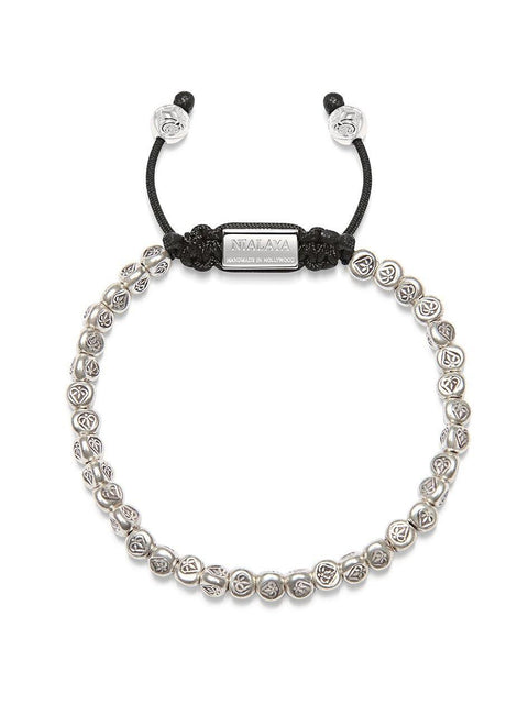 PRE-ORDER Men's Beaded Bracelet with Sterling Silver Heart Beads