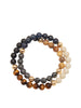 Men's Wrap-Around Bracelet with Tiger Eye, Blue Dumortierite, Hematite, Matte Onyx and Jasper