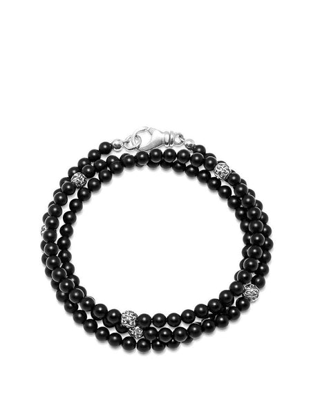 The Mykonos Collection - Matte Onyx and Silver - Nialaya Jewelry  - 1
