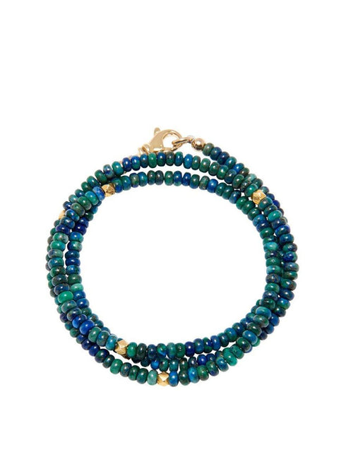 The Mykonos Collection - Azurite and Gold - NIALAYA INC