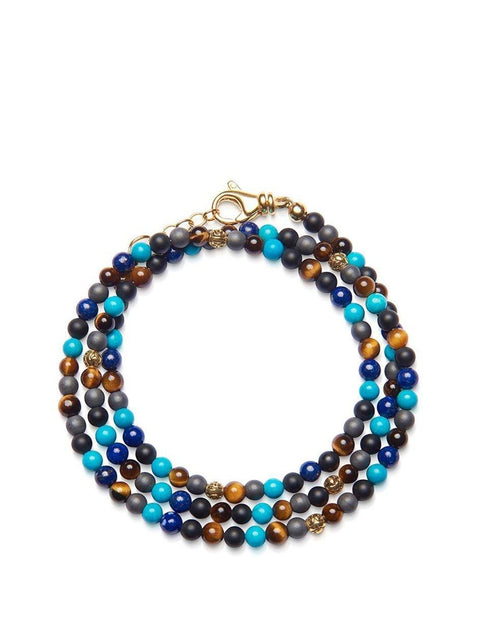 The Mykonos Collection - Brown Tiger Eye, Matte Onyx, Blue Lapis, Turquoise and Gold