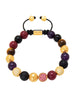 CZ Diamond Red Jade, Amethyst & Brown Tiger Eye - Nialaya Jewelry  - 1