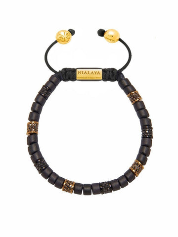 The Tulum Collection - Black Ceramic and Black/Gold CZ