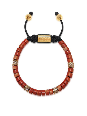 The Tulum Collection - Red Ceramic and Gold CZ