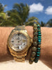 Men's Beaded Bracelet with Indian Gold Cairo Beads