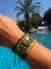 Men's 14K Gold Collection - Matte Tiger Eye, Bali Turquoise, Garnet and Gold with Gold Skull - NIALAYA INC