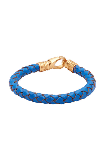 Leather Blue with Gold Lock - Nialaya Jewelry  - 2