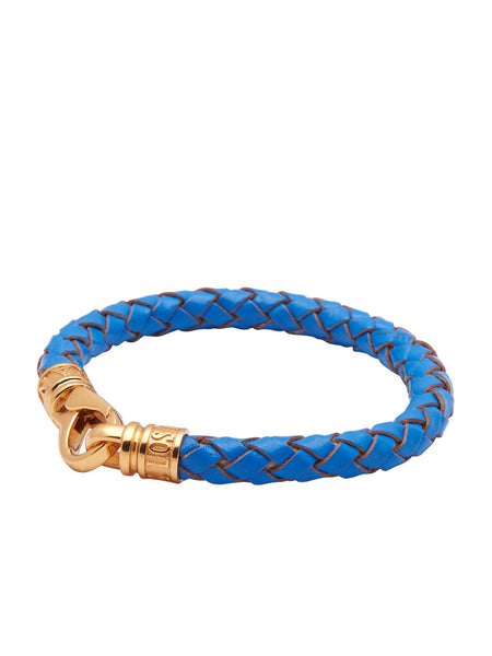 Leather Blue with Gold Lock - Nialaya Jewelry  - 1