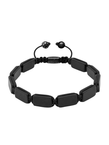 Men's Flatbead Bracelet with Matte Onyx