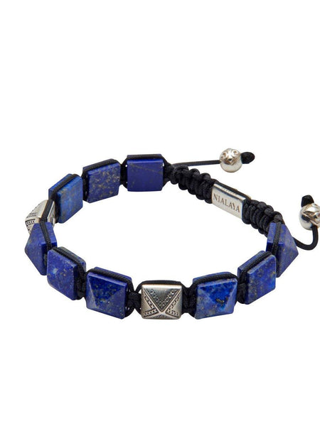 Men's Himalaya Collection - Blue Lapis and Silver - Nialaya Jewelry  - 3
