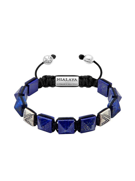 Men's Himalaya Collection - Blue Lapis and Silver - Nialaya Jewelry  - 1