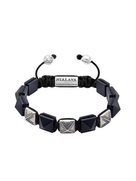 Men's Himalaya Collection - Matte Onyx and Silver - Nialaya Jewelry  - 1