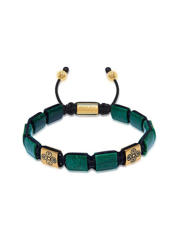 The Dorje Flatbead Collection - Green African Jade and Gold