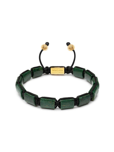 The Flatbead Collection - Green African Jade and Gold - Nialaya Jewelry