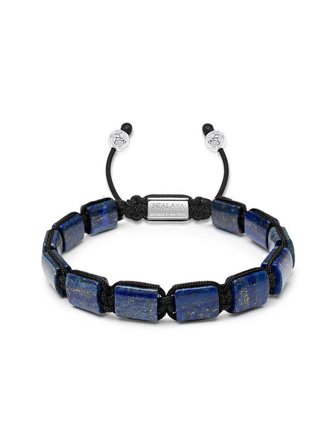 The Flatbead Collection - Blue Lapis and Silver - Nialaya Jewelry