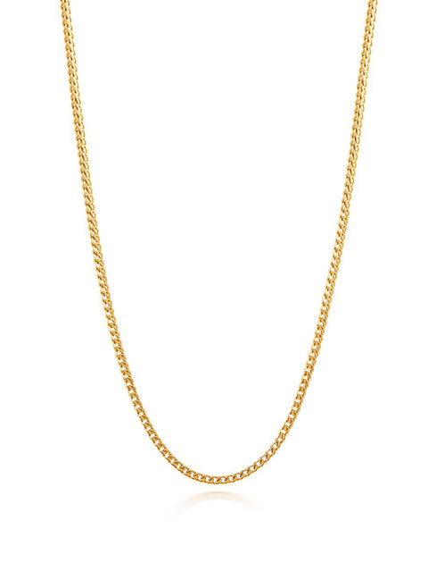 Men's Squared Gold Chain - NIALAYA INC