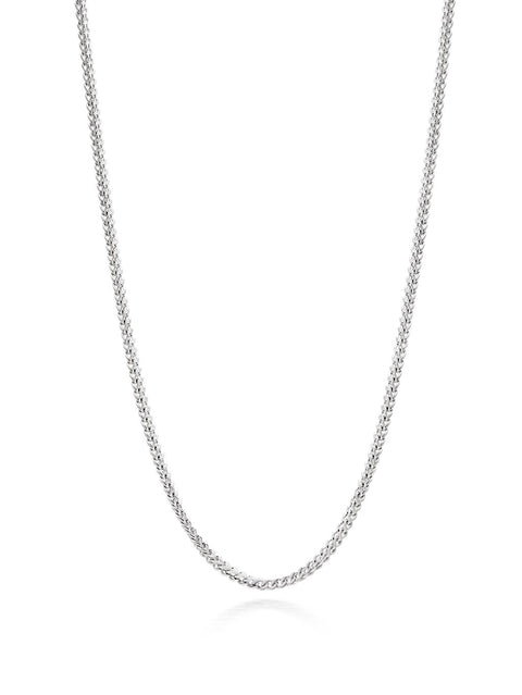 Men's Squared Silver Chain - NIALAYA INC