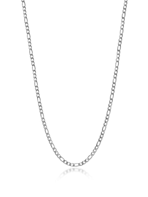 Men's Silver Figaro Chain - Nialaya Jewelry