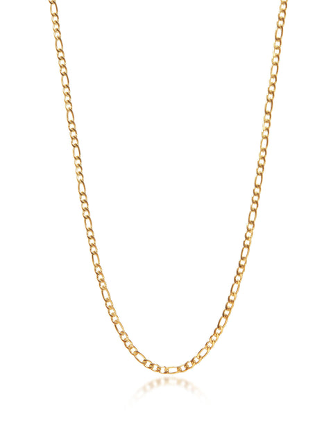 Men's Gold Figaro Chain - Nialaya Jewelry