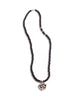 Necklace w. Vintage Silver Ohm Pendant - Nialaya Jewelry  - 4