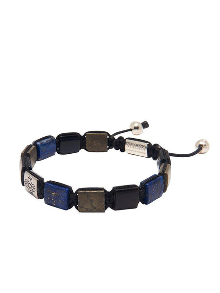 The Dorje Flatbead Collection - Blue Lapis, Hematite, and Blue Tiger Eye