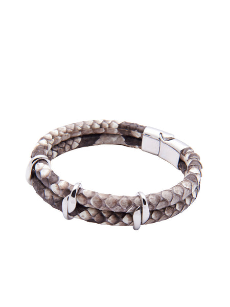 Python Collection With Silver Lock - Nialaya Jewelry